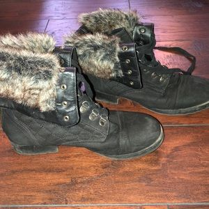 Just fab fur boots size 9